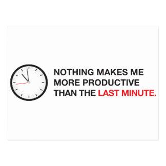 Nada me hace más productivo… tarjeta postal