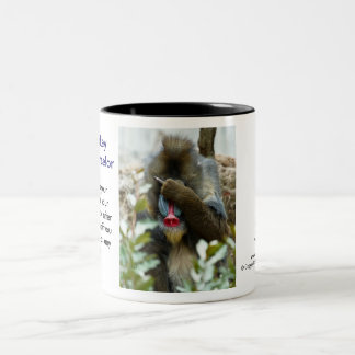 Nada-Monkey #102 Two-Tone Coffee Mug