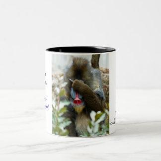 Nada-Monkey #2 Two-Tone Coffee Mug