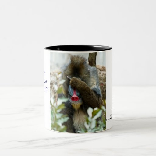 Nada-Monkey #46 Two-Tone Coffee Mug