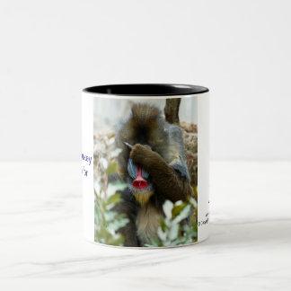 Nada-Monkey #70 Two-Tone Coffee Mug