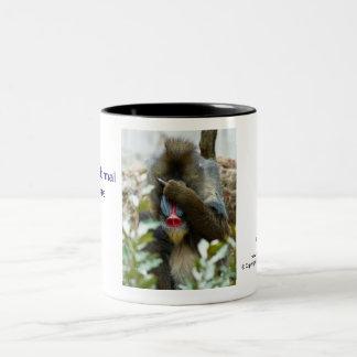 Nada-Monkey #78 Two-Tone Coffee Mug