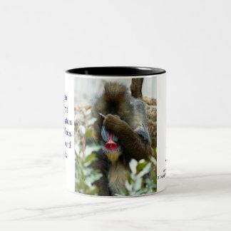 Nada-Monkey #95 Two-Tone Coffee Mug
