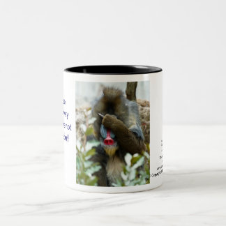 Nada-Monkey on Mindreading Two-Tone Coffee Mug
