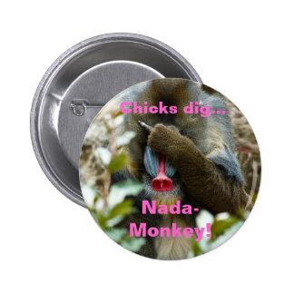 ¡Nada-Mono del empuje de los polluelos Pin