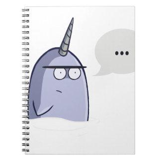 Nada Narwhal Note Book