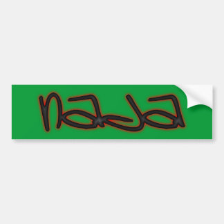 nada nothing emergency-hung bumper sticker