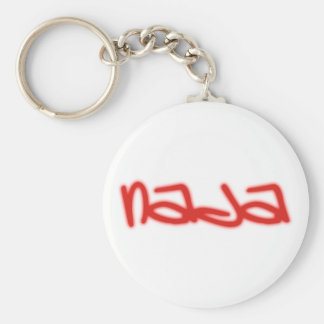 nada nothing emergency-hung basic round button keychain