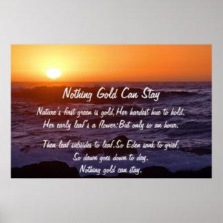 Nada oro puede permanecer el poster de Sun