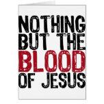 Nada pero la sangre tarjeton