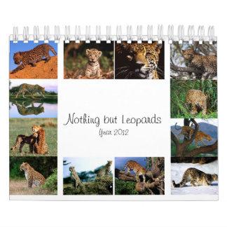 Nada pero leopardos - calendario 2012