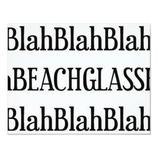 """Nada pero vidrio de la playa invitación 4.25"""" x 5.5"""""""
