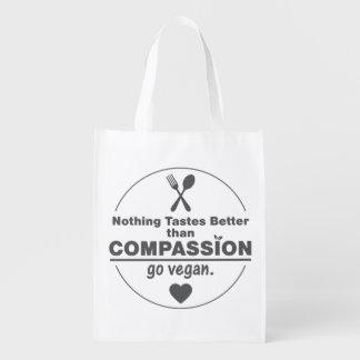 Nada prueba mejor que va la compasión vegano bolsas reutilizables