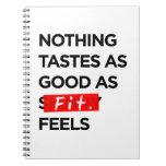 Nada prueba tan bueno como FIT siente - la inspira Libro De Apuntes