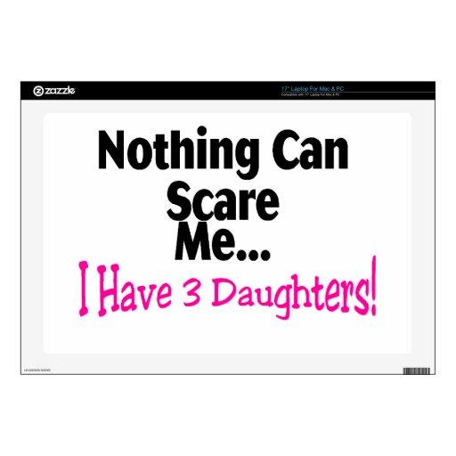 Nada puede asustarme que tengo 3 hijas (el rosa) 43,2cm portátil calcomanía