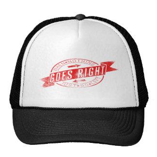 Nada va a la derecha - broche detrás) gorras de camionero