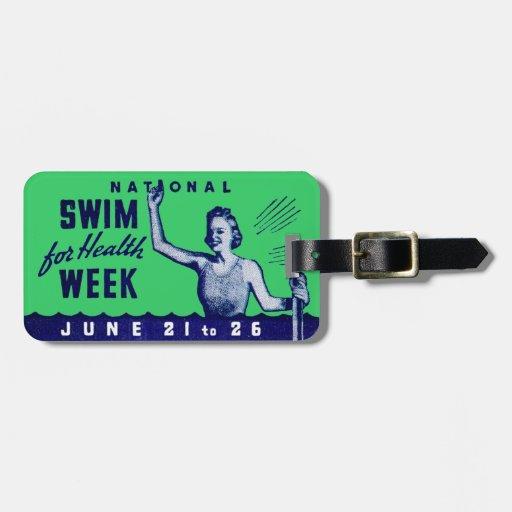 Nadada 1935 para la salud etiquetas para equipaje
