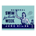 Nadada 1935 para la salud tarjeta postal