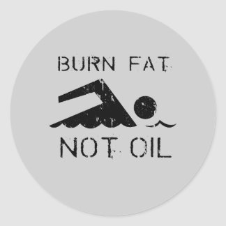 Nadada: Aceite de la grasa de la quemadura no Etiquetas Redondas