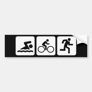 Nadada, bici, funcionamiento - Triathlon Pegatina De Parachoque