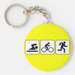 Nadada, bici, funcionamiento - Triathlon Llavero Redondo Tipo Pin