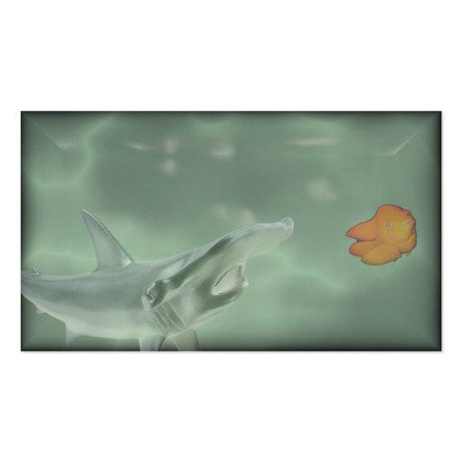 nadada con los pescados grandes tarjetas de negocios
