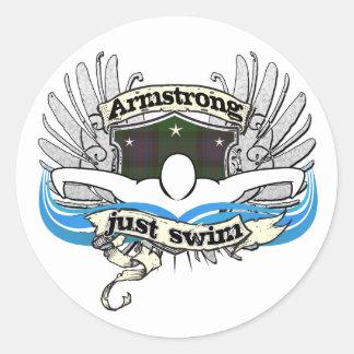 Nadada de Armstrong apenas Pegatinas Redondas