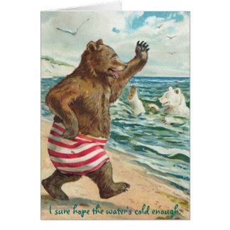 Nadada de la mañana de los osos felicitaciones