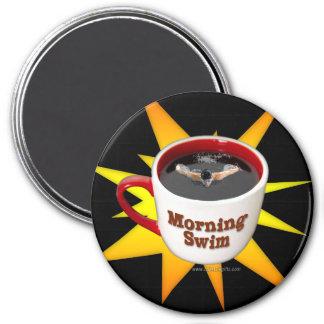 Nadada de la mañana… imán redondo 7 cm