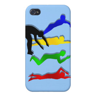 Nadada de los deportes acuáticos de los nadadores  iPhone 4 carcasas