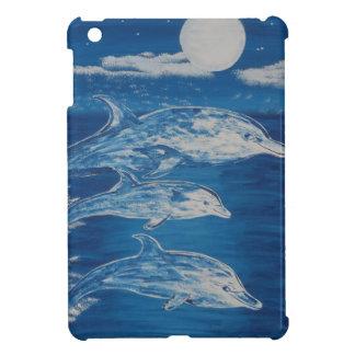 Nadada de medianoche del delfín iPad mini cárcasa