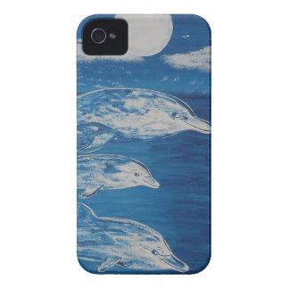 Nadada de medianoche del delfín iPhone 4 carcasa