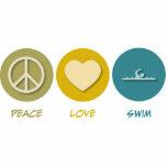 Nadada del amor de la paz esculturas fotográficas