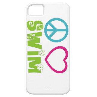 Nadada del amor de la paz iPhone 5 protectores