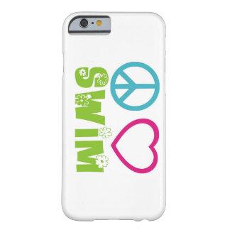 Nadada del amor de la paz funda de iPhone 6 barely there