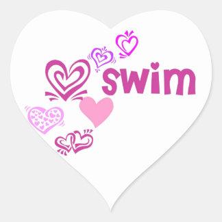Nadada del amor pegatinas corazon personalizadas