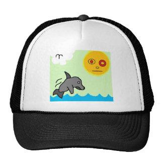 nadada del delfín gorro de camionero