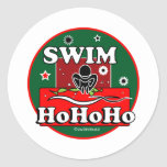 Nadada del navidad de HoHoHo Etiqueta Redonda
