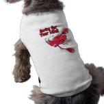 nadada para su cangrejo swmming asustado vida camisa de mascota