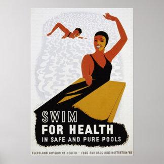 Nadada para su poster de la salud