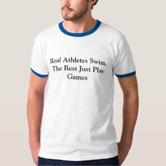 Nadada real de los atletas camisas