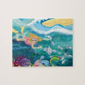 Nadada tropical del día de fiesta puzzles