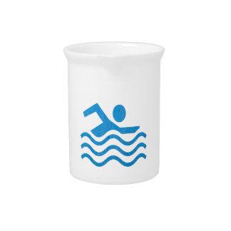 Nadador 101 de la nadada del éxito de la natación jarra