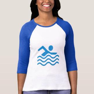 Nadador 101 de la nadada del éxito de la natación camiseta