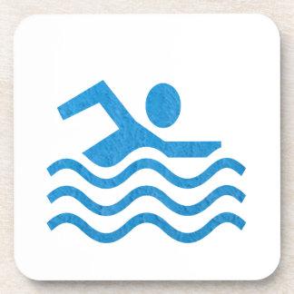 Nadador 101 de la nadada del éxito de la natación posavaso