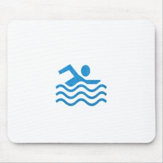 Nadador 101 de la nadada del éxito de la natación alfombrilla de ratón