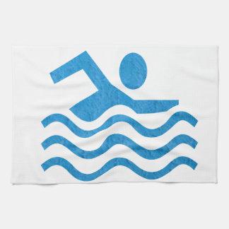 Nadador 101 de la nadada del éxito de la natación toallas de mano
