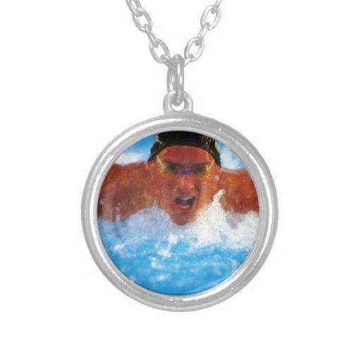 nadador 2 colgante redondo