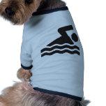 Nadador Camisetas De Mascota