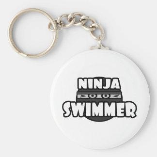 Nadador de Ninja Llavero Personalizado